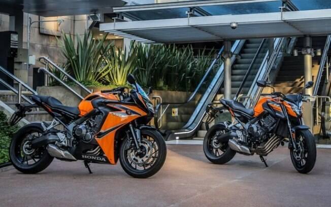 Honda CB 650F e CBR 650F passam a ter nova combinação de cores preto e laranja, com mais esportividade