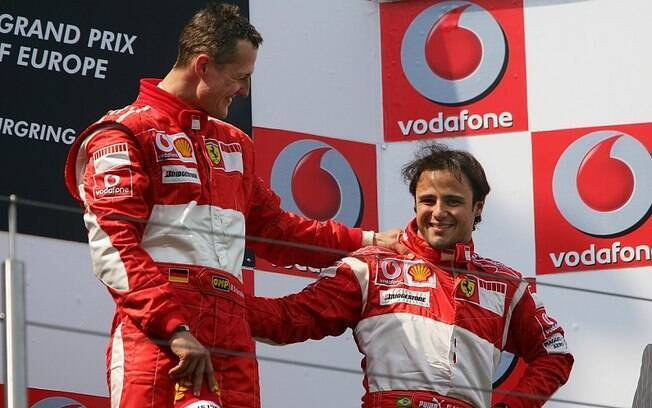 Michael Schumacher e Felipe Massa foram companheiros de equipe na Ferrari em 2006