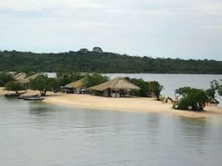 A região oferece diferentes espetáculos, como o encontro do rio Tapajós com o rio Amazonas