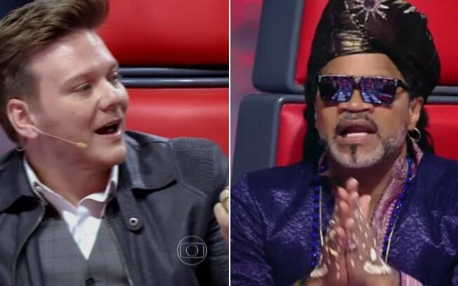 Michel Teló se irrita com Carlinhos Brown no