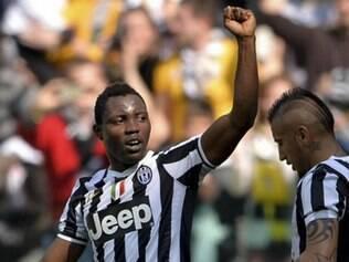 Asamoah anotou o único gol da partida que terminou com vitória da Juventus