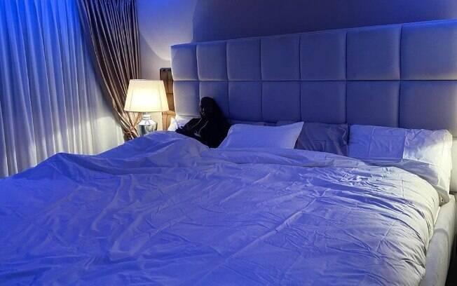 Lukaku surpreendeu com o tamanho da sua cama. É enorme