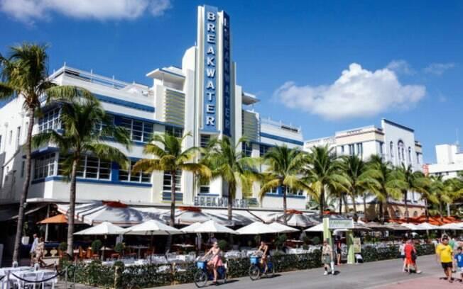 O Art Deco District é uma região clássica de Miami para quem aprecia arquitetura
