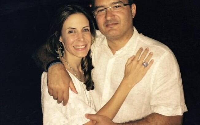 Luciana Dornelles e seu marido