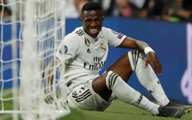Vinicius Júnior chegou a se lesionar no Real Madrid, prejudicando sua temporada