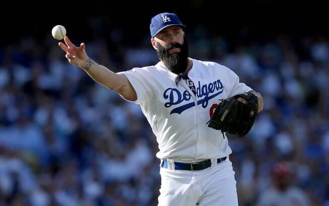 d0994841f7778 Brian Wilson - jogador de beisebol do Los Angeles Dodgers. Foto: Jeff Gross/