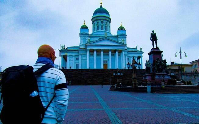 A Finlândia foi o primeiro destino da viagem de Álvaro Souto