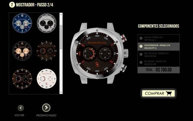bb501377b9a Sistema de customização de relógios da Brother   Brother permite que  cliente escolha a caixa