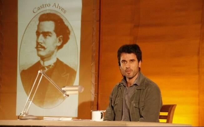Eriberto Leão lê obras de Castro Alves na Bienal do Livro no Rio de Janeiro