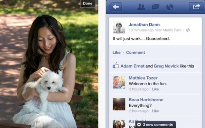 Novo aplicativo do Facebook ficou duas vezes mais rápido e ganhou novos recursos