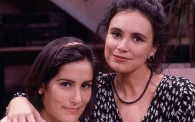 Raquel (Regina Duarte) sofria o desprezo da filha Fátima (Glória Pires) em