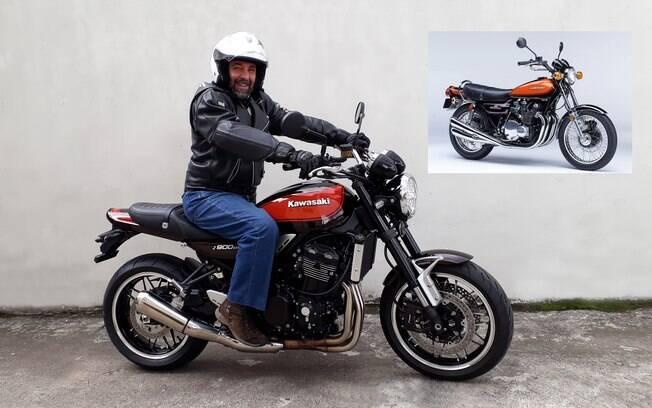 A Kawasaki Z900RS e a original, de 1972, a Kawasaki Z1 ou Z900