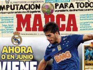 Interesse do Real Madrid por Lucas Silva novamente é destaque no jornal Marca