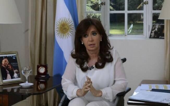 Cristina Kirchner disse em rede nacional que não aceitará pressões contra ela e seu governo (27/01)