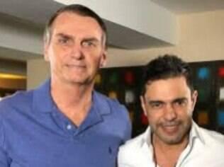 Bolsonaro e Zezé di Camargo