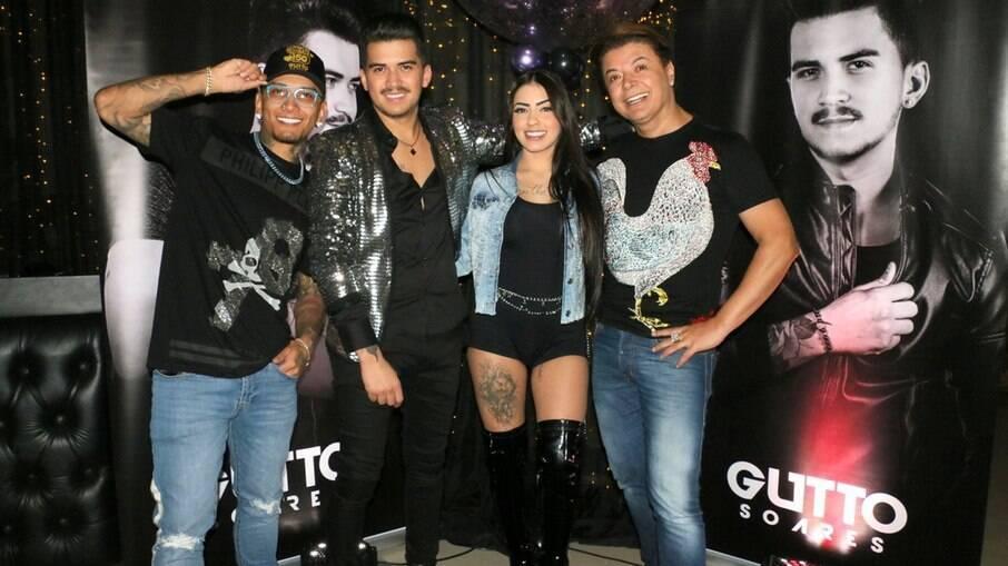 Dynho Alves, Gutto Soares, MC Mirella e David Brazil