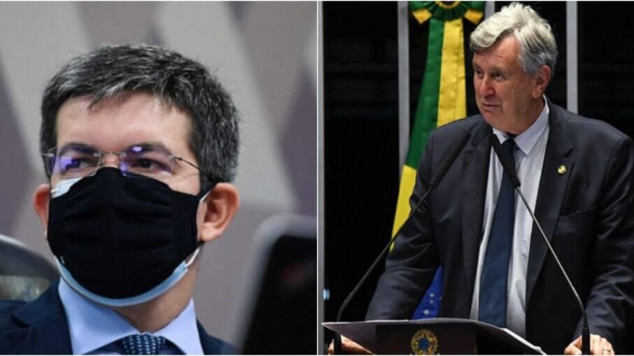 Randolfe Rodrigues (REDE-AP) e Luis Carlos Heinze (PP-RS)