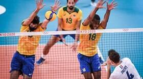 Jogaço! Brasil vence a França no tie-break no vôlei masculino