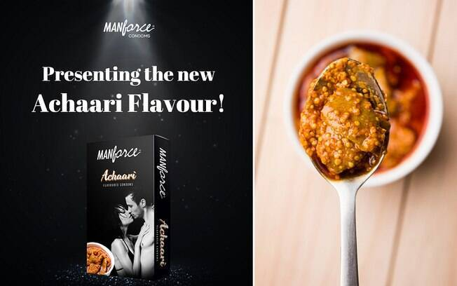 A nova camisinha lançada pela marca tem sabor de achaari, um prato oriental que é agridoce e picante