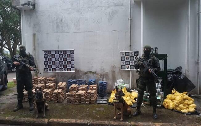 No sábado, mais de 500 quilos de drogas foram apreendidas na favela do Paraisópolis
