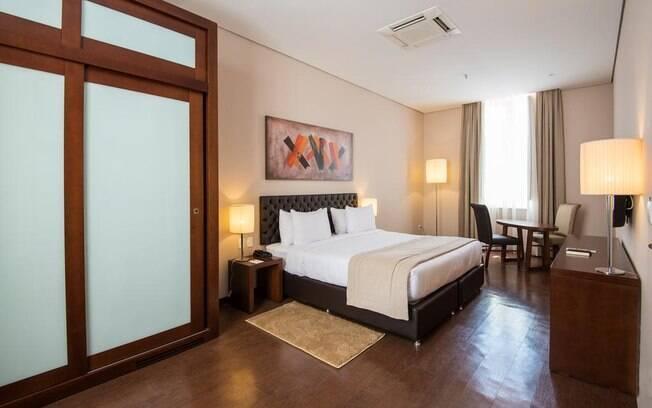Quarto do hotel Sleep Inn Aeroporto Guarulhos