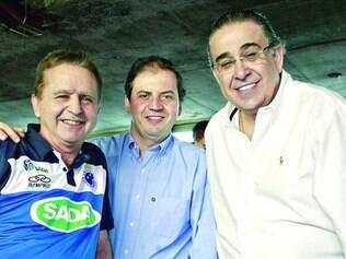 Minas unida. Vittorio Medioli, o deputado Rodrigo de Castro e o governador Alberto Pinto Coelho