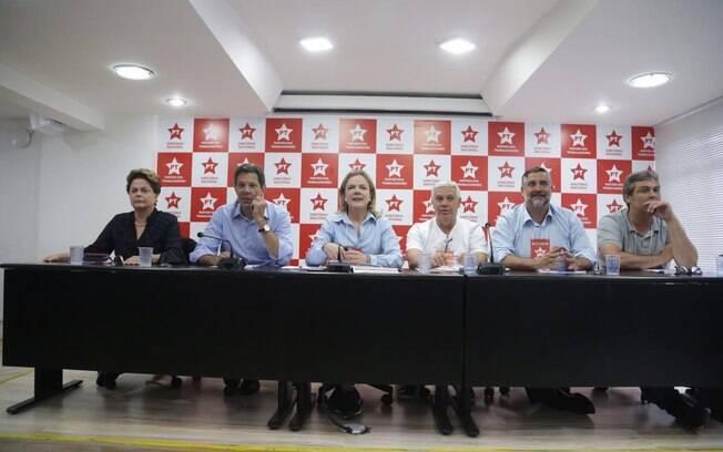 Reunião do PT foi realizada no diretório do partido em São Paulo
