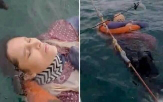 A mulher de 46 anos foi encontrada viva por pescadores