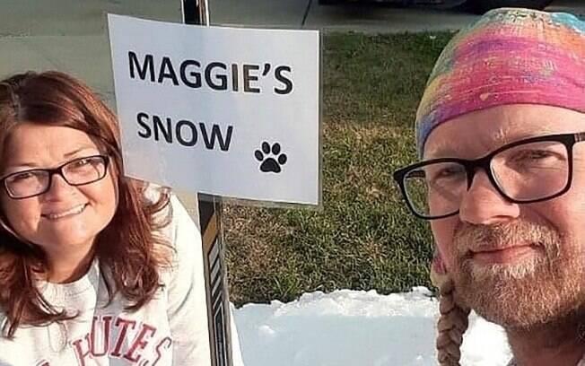 Marianna Wilson e Elijah Saltzgaber tomaram a difícil decisão de eutanasiar a cadela de estimação