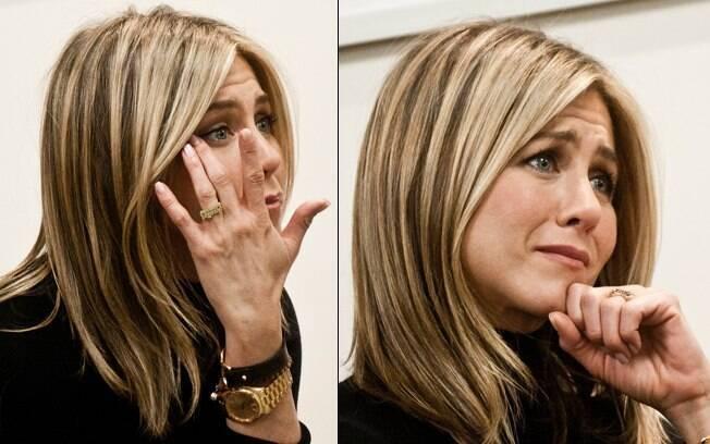 Jennifer Aniston se emocionou na première de