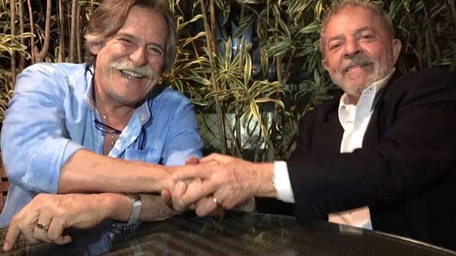 José de Abreu e o ex-presidente Lula
