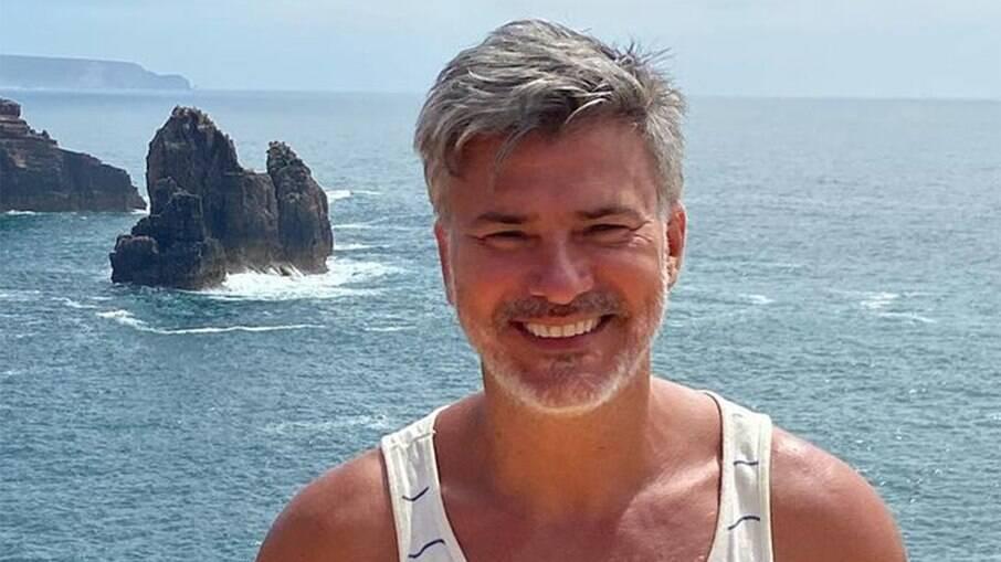 Leonardo Vieira na Europa, onde mora atualmente