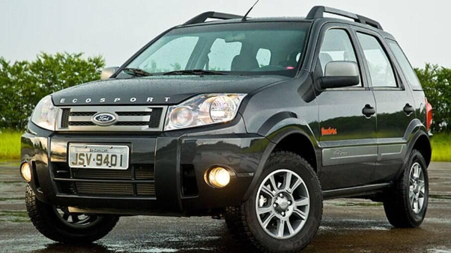 A primeira reestilização do Ford EcoSport teve inspirações claras no Land Rover Freelander