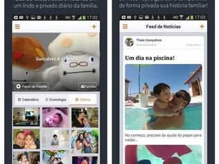 Multiplataforma, 23snaps compartilha fotos, vídeos e textos apenas com quem foi convidado pelos pais da criança