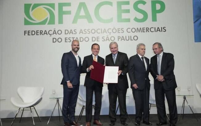 Nova diretoria da Facesp tomou posse nesta quinta-feira em cerimônia com autoridades estaduais e federais