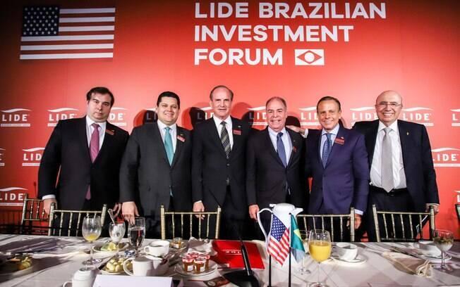 BRAZILIAN INVESTMENT FORUM DO LIDE Mais de 100 empresários juntos para ouvir o que o Executivo, Legislativo e Judiciário planejam para reconsertar o País