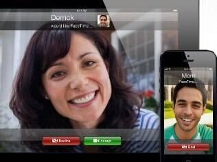 FaceTime, da Apple, permite fazer chamadas em vídeo entre usuários de iPhone e iPad