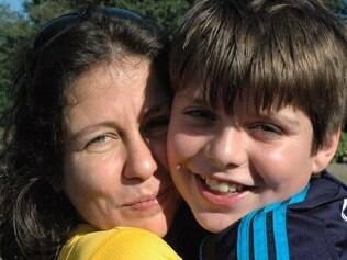 Heloísa e o filho Bernardo: