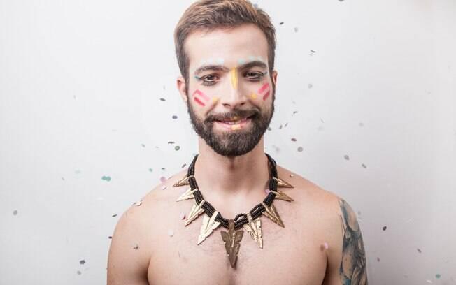 O publicitário Rodrigo Turra ficou feliz com resultado e se divertiu com processo de maquiagem