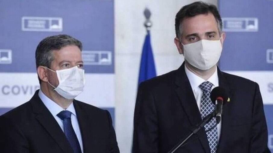 Deputado federal Arthur Lira e senador Rodrigo Pacheco