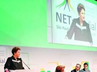 Marco. Presidente Dulma  defendeu uma  internet mais global