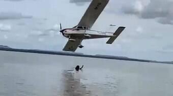 Piloto de avião realiza voo rasante e é preso no Maranhão; assista