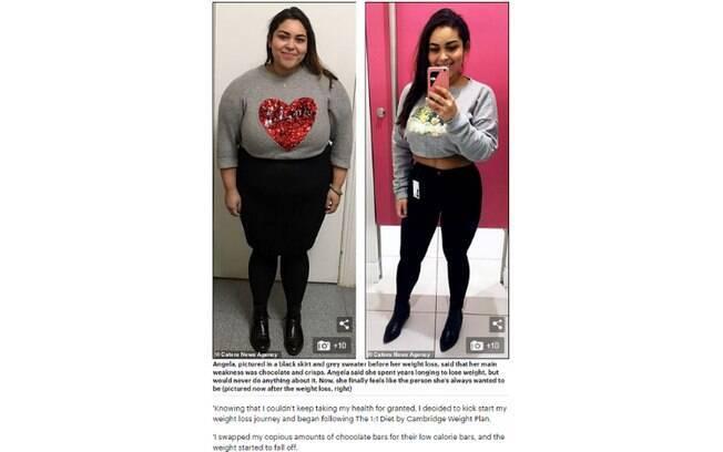 Angela Rosario, de 31 anos, emagreceu mais de 30 kg depois de ver uma foto sua usando uma roupa de banho