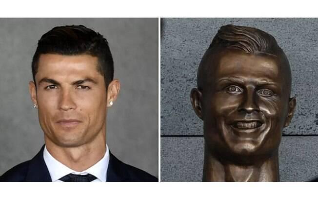 c273fd411938d As melhores montagens com a nova estátua do Cristiano Ronaldo ...
