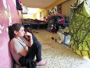 Medo. Milhares de meninas foram obrigadas a deixar a região onde moravam após ataques do EI