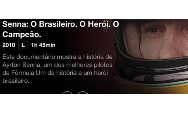 """Na lista de filmes da Netflix, o documentário  """"Senna"""" mostra a sua trajetória para muitos """"o melhor piloto brasileiro"""