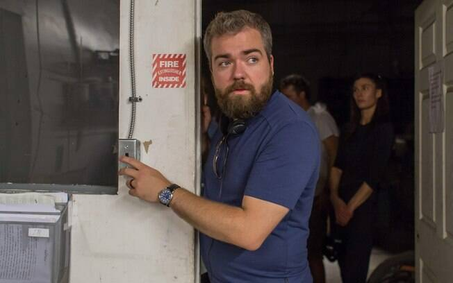 O diretor David F. Sandberg no set do filme: