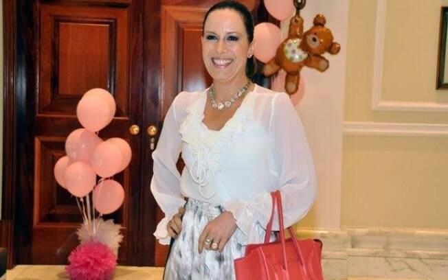 A colega de programa Regina Volpato também fez questão de comparecer ao evento