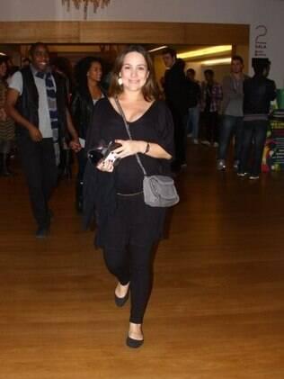 Gabriela Duarte, grávida de seis meses, espera um menino