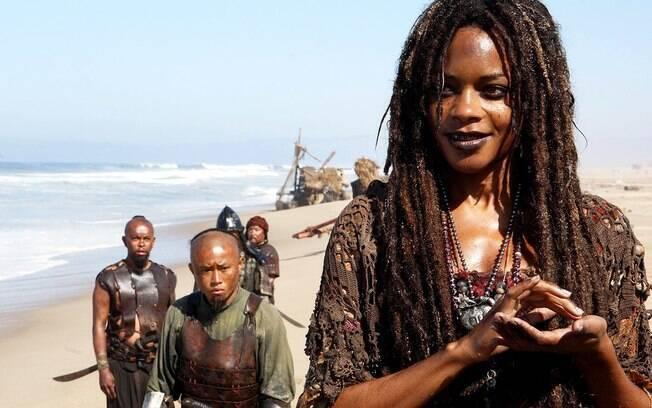 Deusa enclausurada em forma humana por Davy Jones, Calypso é a entidade que rege os mares na saga de ''Piratas do Caribe''